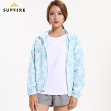 Women Running Cycling Sports Jackets Supfire Sunscreen Wind Coat Long Sleeve Jerseys Night Vision Waterproof Skin C016