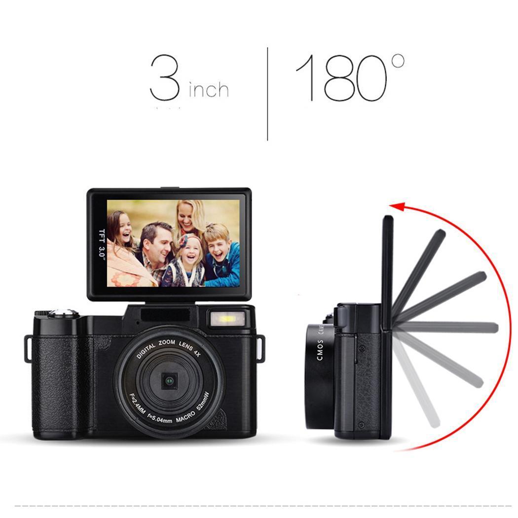 P11 флип экран беспроводной wifi Full HD 1080 P 24MP 16X зум Цифровая камера видеорегистратор - 6