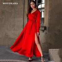 Новое сексуальное красное платье в стиле бохо, женские длинные платья, элегантные платья для выпускного вечера, вечерние платья больших раз...