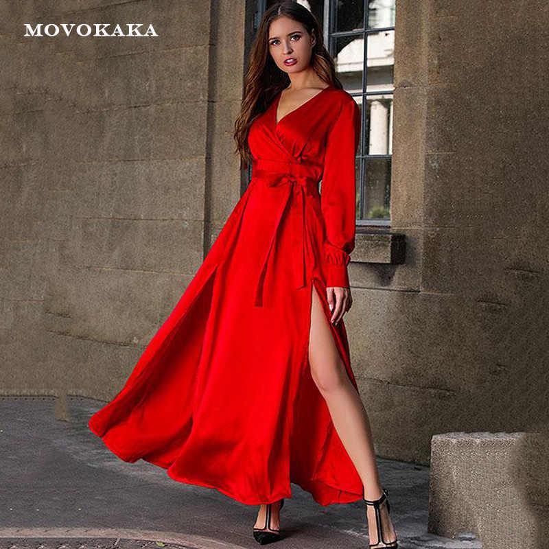 Новое сексуальное красное платье в стиле бохо, женские длинные платья, элегантные платья для выпускного вечера, вечерние платья больших размеров