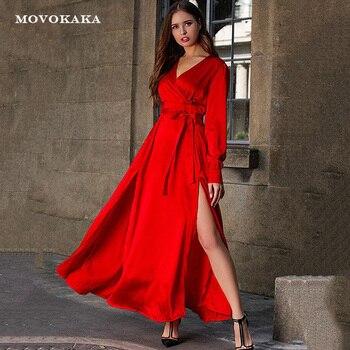 4bc1e709f9bf Nuevo Boho Sexy Vestido rojo mujeres vestidos largos elegante Vestido De  Fiesta plisado Vestido De Fiesta De noche talla grande vestidos de las ...
