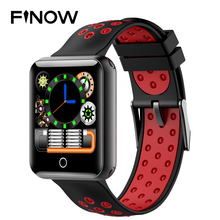 ФОТО finow 1999 1.54 inch smart wrist bracelet fitness tracker anti lost activity tracker blood pressure ip68 waterproof sport band