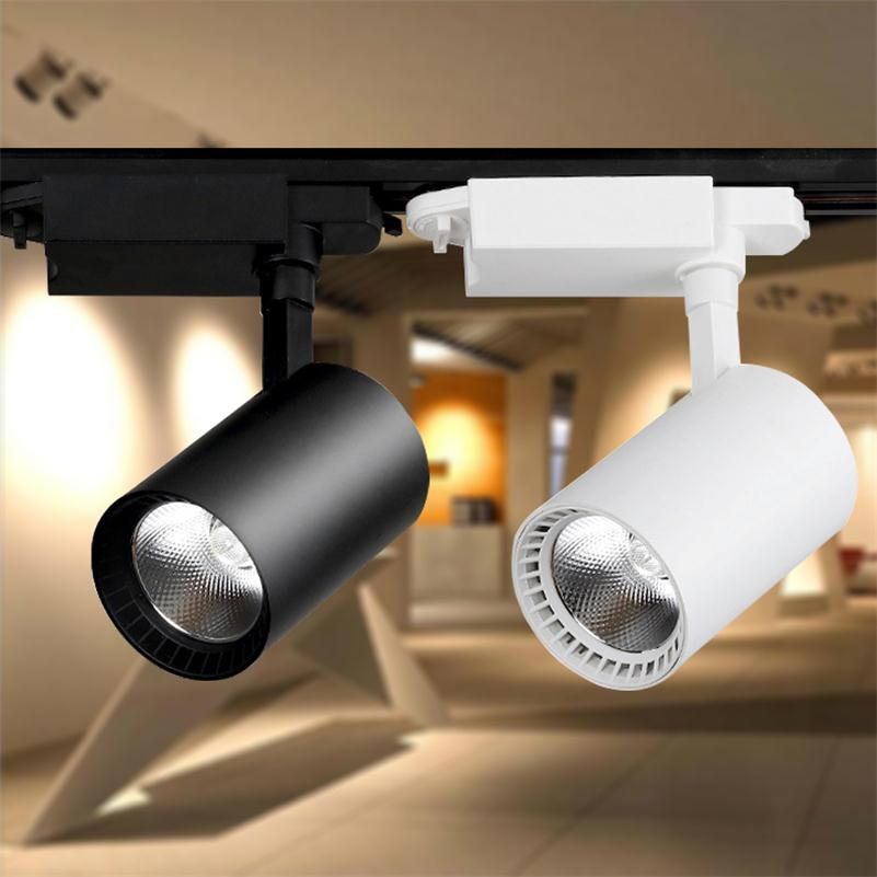LED COB 10W 20W 30W 40W 50W Track Lights White Black Aluminium Tracking Lamp Rail Lighting Clothes Shoes Store Halogen SpotlightLED COB 10W 20W 30W 40W 50W Track Lights White Black Aluminium Tracking Lamp Rail Lighting Clothes Shoes Store Halogen Spotlight