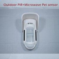 FT 89R Wireless Microwave+PIR Motion Detector Pet friendly Motion Sensor External Outdoor Waterproof for Meian Wireless Alarme