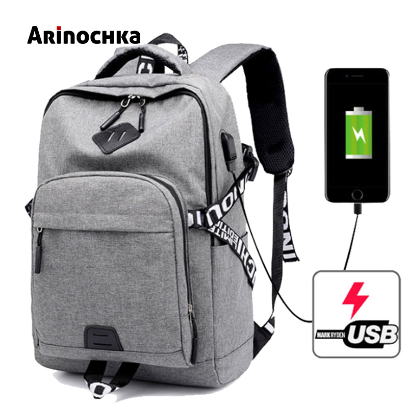Men Backpacks Laptop Backpack USB Charger Bag Anti-theft Backpack For Teenager Daypack Fashion Male Travel Sac A Dos Mochila