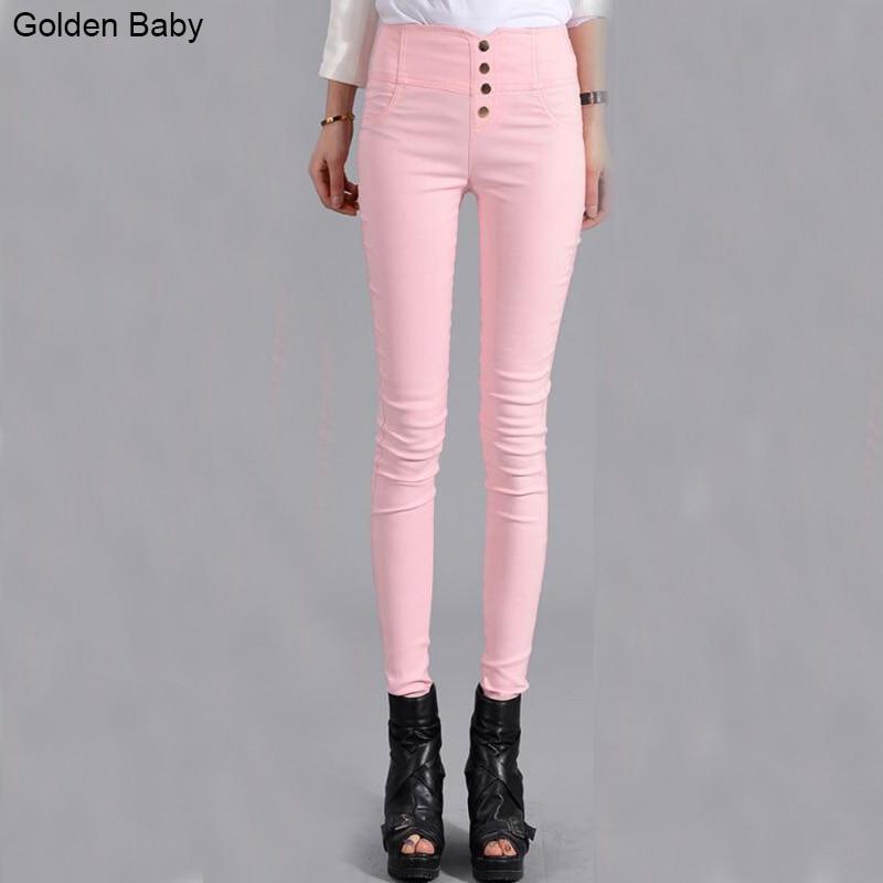 Taille haute Jeans Femme Denim Pantalon De Couleur de Sucrerie Femmes Jeans  Donna Stretch Bas Feminino Skinny Pantalons Pour Femmes Pantalon dans Jeans  de ... dfa65deca11