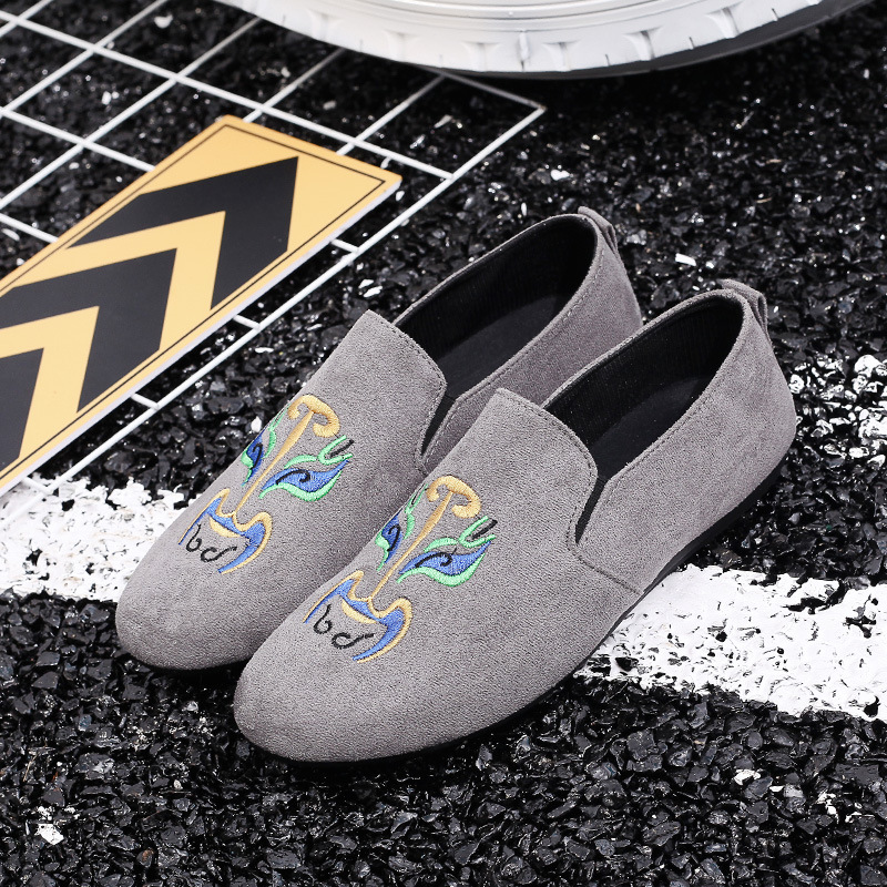 Shoes Men Loafers Soft Moccasins 2018 autumn peas shoes mens Chinese style face cloth shoes  embroidery casual lazy shoes zapatillas de moda 2019 hombre