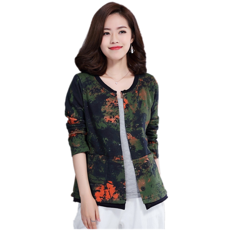 Middle aged women short jacket spring new patchwork tops woman plus size M-4XL casual elegant ladies outerwear womens spring new