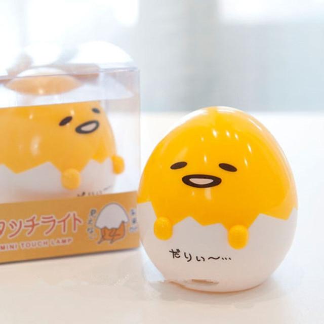 Anime Gudetama Egg Light-Up Toy Lazy Egg Yolk Gudetama Sleep LED Night Light Cute Table Lamp