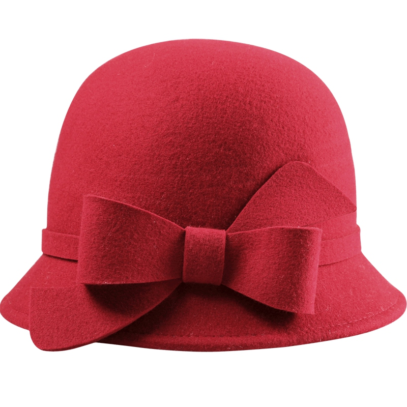 07b82165e6e Winter Fashion Female Brim Wool Felt Fedora Hats Women Wine Red Church Hat  Ladies Floppy Flowers Cloche Feminino E3274-in Fedoras from Apparel  Accessories ...
