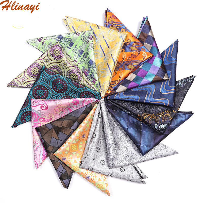 Hlinayi 2019 Men's Pocket Kerchief Small Square Kerchief Large Fringe Fashion Chest Kerchief Handkerchief