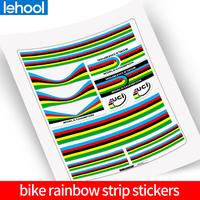 bike World Championship Rainbow   stickers   Rainbow Strips Set UCI bike Frame Road Bicycle Decorative   Decals   Accessories   Decals