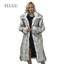 FLULU Casual Winter Coat Women 2018 Fashion Long Sleeve Jacket Coat Warm Loose Thick Lengthen Faux Fur Coat Outerwear Plus Size(China)
