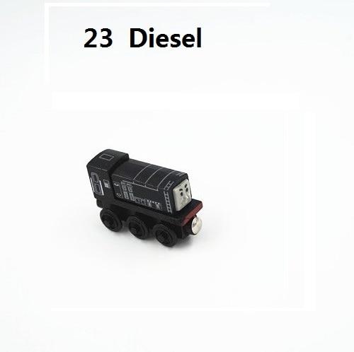 Деревянные магнитные паровозики, игрушки для железной дороги, деревянные паровозики для детей, подарок для детей, модель поезда - Цвет: Армейский зеленый