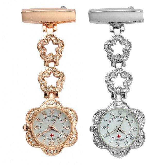 28493d3e104 2017 Coração Relógios Enfermeiros Médico portátil Clip-on Relógio de Bolso  Fob Túnica Baterias Médico