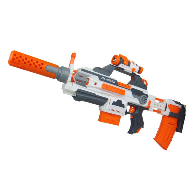 100 Changeable Combination Electric Gun Soft Bullet Plastic Toys Machine  Guns Bursts Compitable with Nerf N