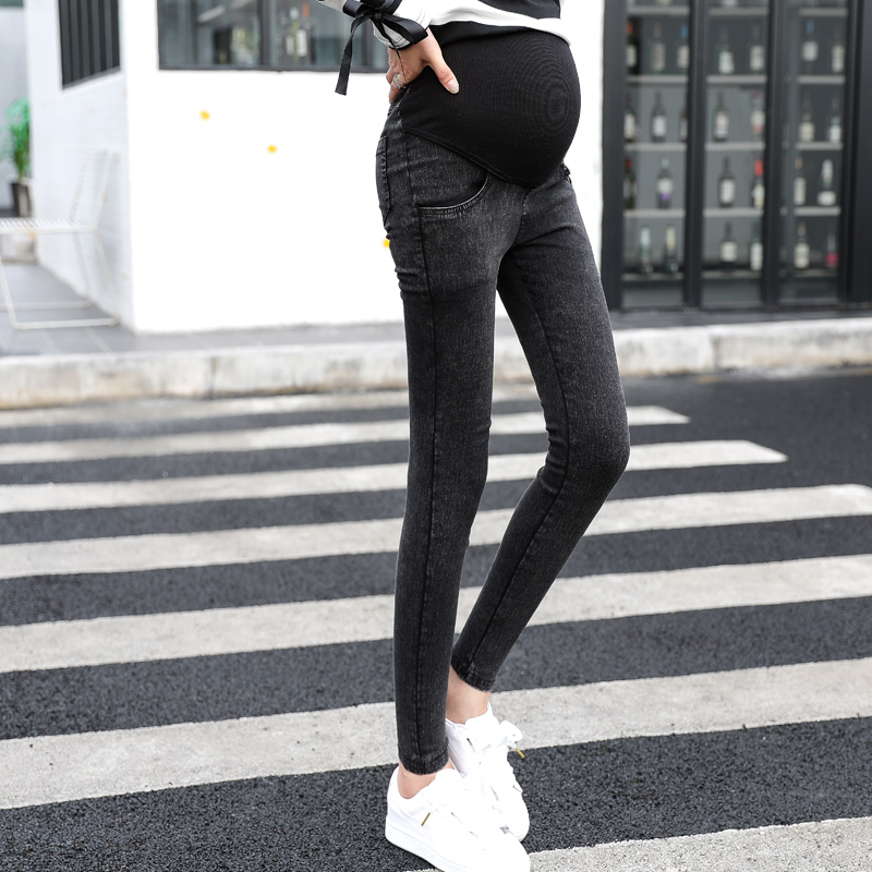 Elastic Waist Maternity Jeans Pants For Pregnancy Clothes For Pregnant Women Legging Maternity Spring / Autumn long pencil pants trendy snow wash slimming elastic waist capri jeans for women