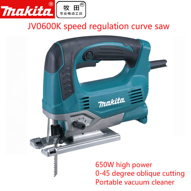 US $215 0  Makita MAKITA JV0600K curve saw, speed regulating electric  reciprocating saw, woodworking metal cutting saw (B saw blade) -in Power  Tool
