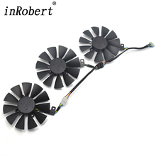 New Everflow Cooler Fan Replacement For ASUS STRIX RX470 RX460 GTX980Ti R9 390 390X GTX 1070 1080 Graphic Card Cooling Fan new cooling fan for asus strix raptor r9 390 390x card cooler fan only fans