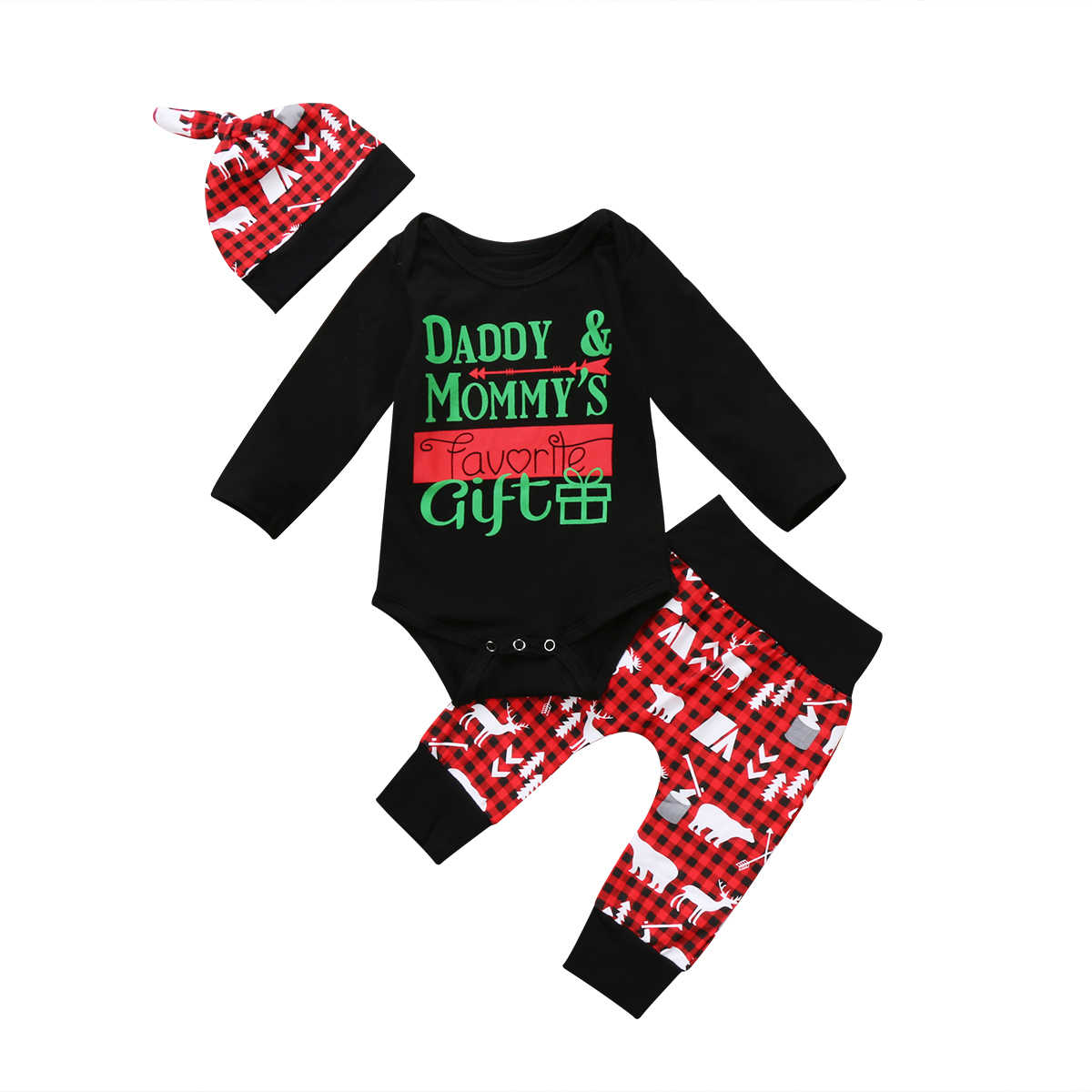 727d0a6826e1 Detail Feedback Questions about 3Pcs christmas baby clothes Xmas ...