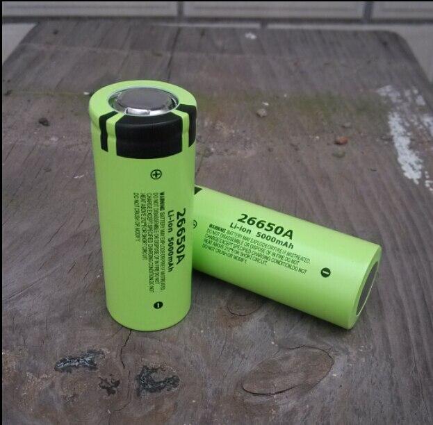 2 pcs/lot nouveau authentique Panasonic 26650A 3.7 V 5000 mAh haute capacité 26650 Li-ion batterie Batteries rechargeables livraison gratuite