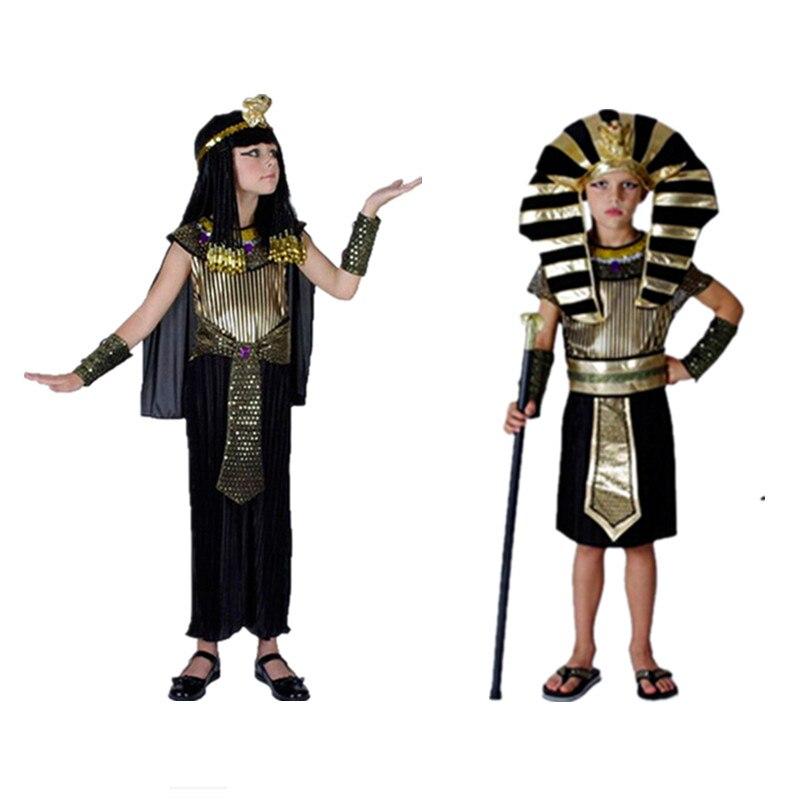Kinder Mädchen Jungen Ägyptischen Pharao Kostüm Halloween Party ...