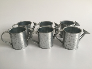 Image 2 - 30pcs/lot D5.5XH5.5CM Silvery Mini watering cans wedding favors bucket tin Metal Favors Decorative watering cans