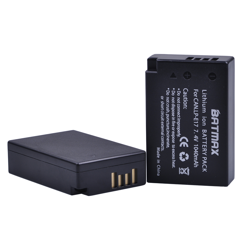 Image 2 - 2Pcs LP E17 LP E17 LPE17 Lion Battery for Canon EOS M3 M5 760D/800D/Kiss 8000D/Rebel T6s 750D/Kiss X8i/Rebel T6i/ M3-in Digital Batteries from Consumer Electronics
