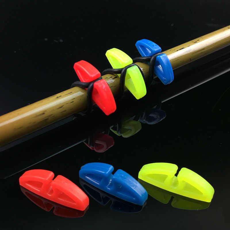 10 مجموعات البلاستيك الصيد هوك آمن حفظة أصحاب السحر الرقصة السنانير آمنة حفظ ل قصبة الصيد معدات الصيد