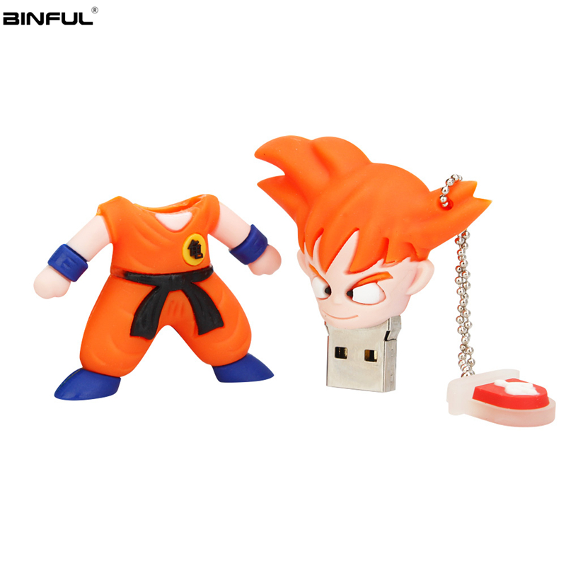 Image 4 - Cartoon Goku Usb Flash Drive 32GB 64GB 128GB High Quality Pen Drive 4GB 8GB 16GB Usb Stick Super Saiyan Pendrive Free Shipping-in USB Flash Drives from Computer & Office