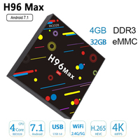 H96 MAX H2 4 GB/32 GB Android 7.1 Smart TV BOX 1080 p H96 TV BOX 2.4G/5G WIFI Blutooth Hoge kwaliteit video decoder 4 K top selling