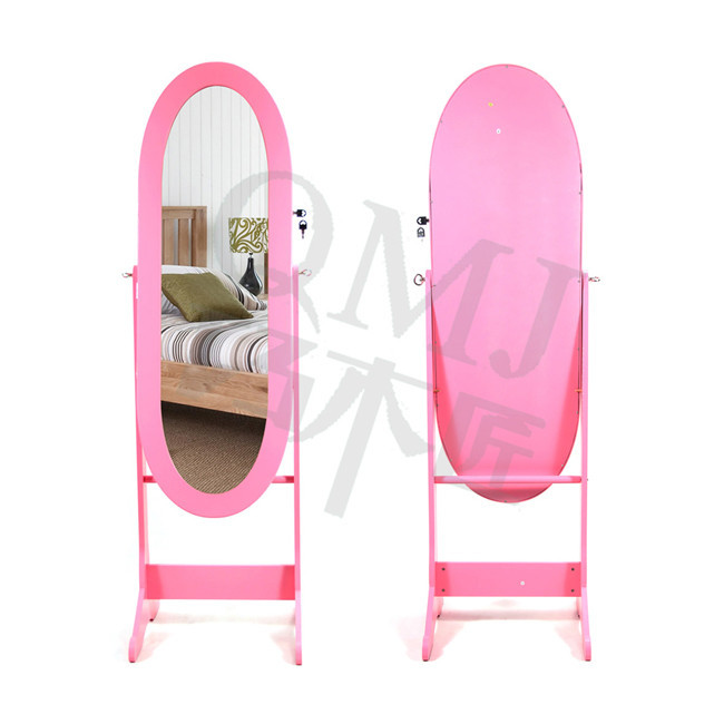 NEW Luxury Large pink dressing mirror with cabinet bedroom mirror ...
