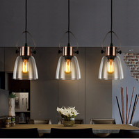 Bar Lights Bedroom Glass Lighting Kitchen Island Pendant Light Study Modern Ceiling Lamp Home Indoor Lights Bulb For Free