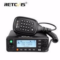 Retevis RT90 Mobile Car Walkie Talkie VHF UHF Dual Band DMR GPS 50W VOX Digital Analog