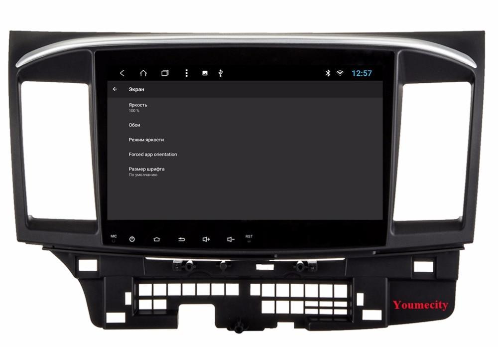 1024*600 三菱ランサーラジオビデオプレーヤー容量性スクリーン GPS 喧騒車の 66