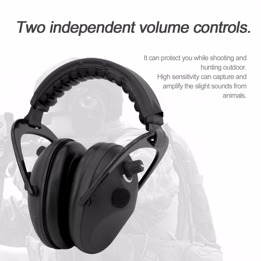 Electronic Ear Hearing Protective Headband For Shooting Hunting Ear Muff Print Tactical Headset Sound Activated Compression