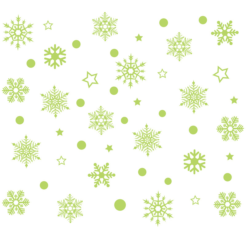 2019 New Year Merry Christmas Decorations for Home Luminous Snowflake Background Decorative Sticker Removable Navidad Natal (10)