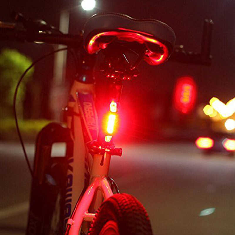 WasaFire Rechargeable USB LED Bike Tail Light Taillight MTB Safety Warning Bicycle Front Rear Light Bicycle Lamp Flash Light