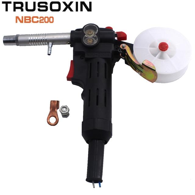 MIG Welding Equipment Spool Gun Push Pull Feeder Aluminum Copper or Stainless Steel DC 24V Motor Line-Drawing Welding Torch