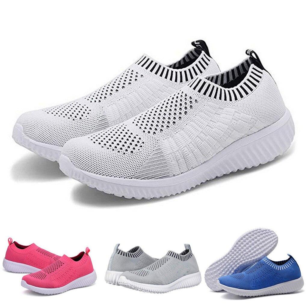 Sport & Unterhaltung FäHig Sagace Frauen Mesh Schuhe Komfortable Slip-on Baumwolle Casual Schuhe Für Frau Walking Einfarbig Turnschuhe Müßiggänger Weichen Schuhe Fitness & Cross-training-schuhe