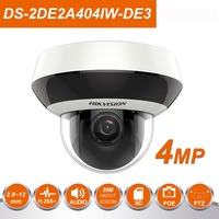 HIK vision DS 2DE2A404IW DE3 4MP 4X IR Network PTZ Camera Dome POE IP Camera Support 256GB 330 Degree Rotate Audio