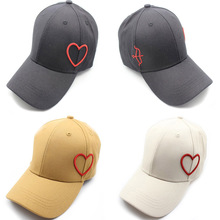 Women Men Unisex Hip Hop Kpop Bboy Snapback Baseball Cap Embroidery Heart Sun Visor Dad Hat Dancing Sport Caps Adjustable