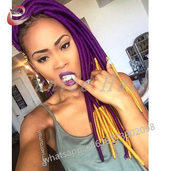 Full Colour Crochet Braids Dreadlocks Best Straight Hair Extensions