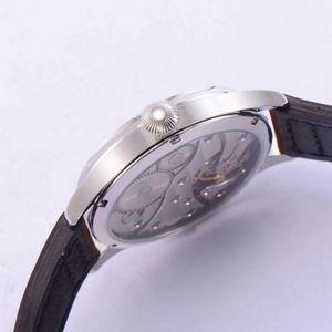 Image 4 - 44mm Corgeut Sterile Schwarz Zifferblatt 17 Juwelen 6497 Handaufzug Bewegung männer Armbanduhren