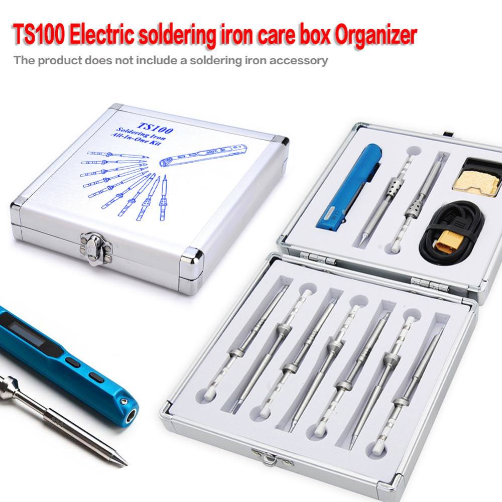 Aluminium Package Box Dedicated TS100 Mini Programmable Smart Digital LCD Adjustable Temperature Electric Soldering Iron