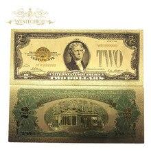 Банкнота с золотым покрытием в 24K золотом, фальшивая бумага для сбора денег, 100 шт./лот, 1928 год