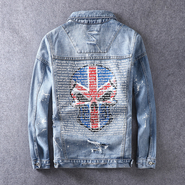 BRITISH SKULL DENIM JACKET