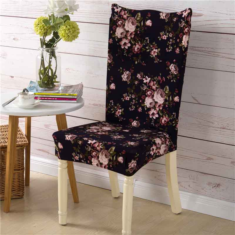 Perfect Printing Floral Stretch Chair Cover Big Elastic Seat Chair Covers Painting  Slipcovers Restaurant Banquet Hotel Home Decoration In Chair Cover From  Home ...