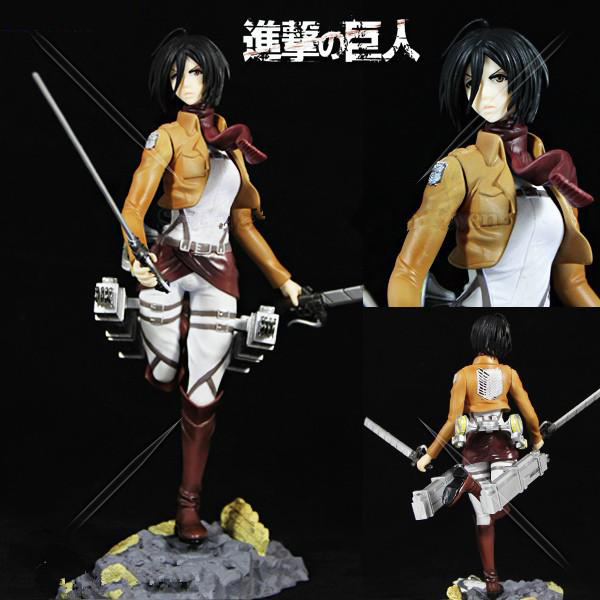 20cm Japanese anime figure Attack on Titan Mikasa Ackerman action figure collectible model toys for boys anime attack on titan mini messenger bag boys ataque on titan school bags mikasa ackerman eren shoulder bags kids crossbody bag
