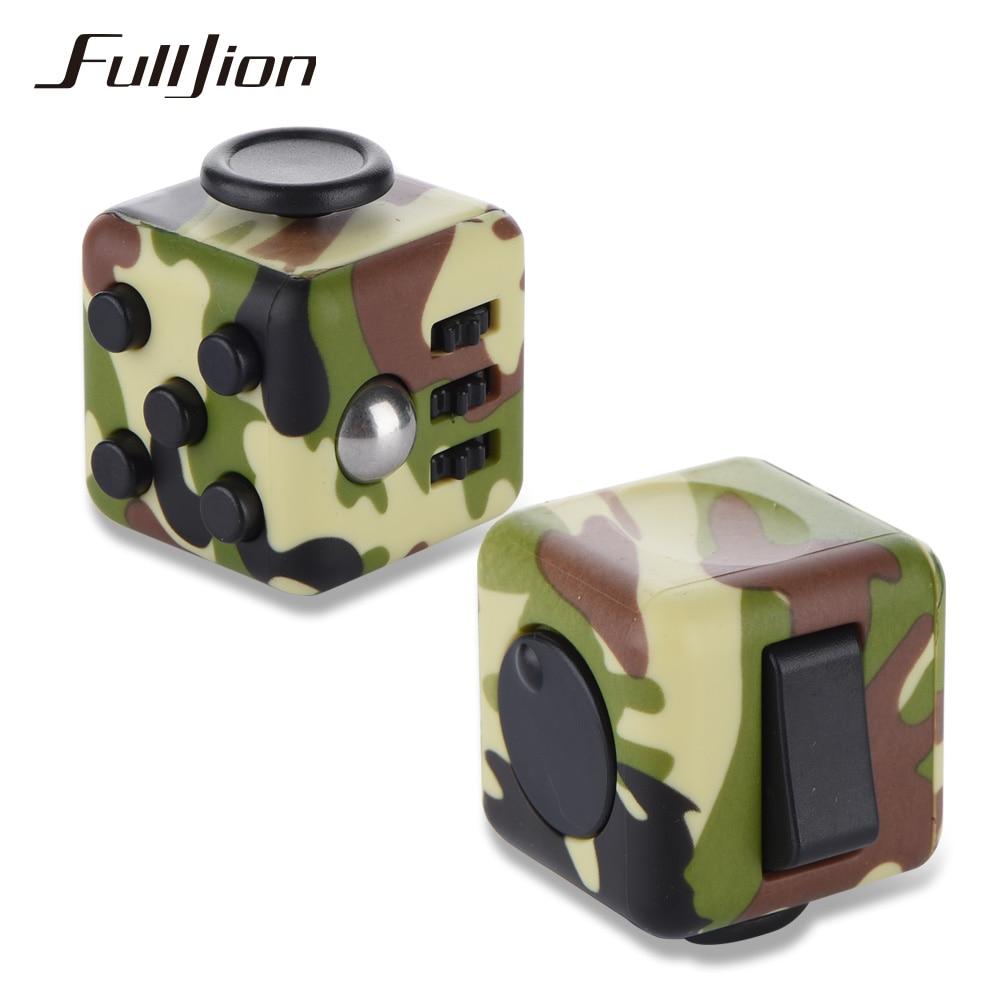 Fulljion Antistress Fidget Cube Anti-stress Sport Entertainment Stress Relief Toys Fun Gadget Vinyl Desk Finger Squeeze Cube Toy